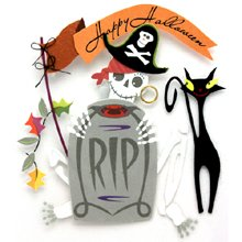 Jolee's Boutique Dimensional Stickers Creepy Crows, Halloween Theme