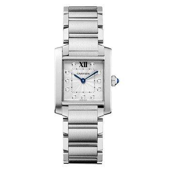 Cartier Tank Francaise WE110007 Acero Inoxidable Cuarzo Reloj de Pulsera para Mujer: Amazon.es: Relojes