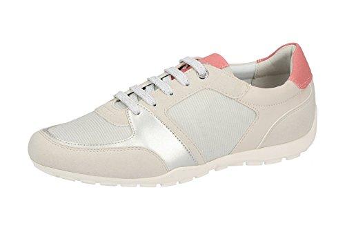 Classic Women's White Up C1002 Half 0EWAF D826DB Geox Lace Shoe vqw4O