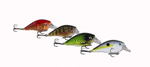 - Atko Big Bass Square Bill CrankBait Pro Pack 4 -Fishing Lure Bass Walleye Striper Pike (Craw, Monster, Shad, Perch, 4 Pack)