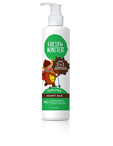 FRESH MONSTER Shampoo Conditioner 2N1 Coconut, 8 Ounce
