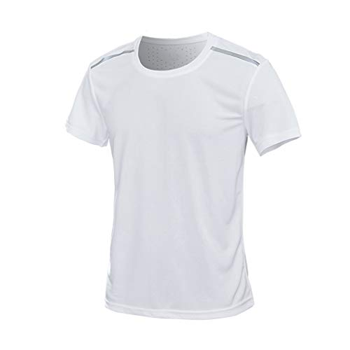 KLGDA Mens Tank T Shirt,Athletic Muscle Short Sleeve Moisture Wicking T-Shirts Fashion Classic Tops White
