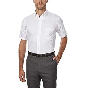 Van Heusen Men's Short Sleeve Dress Shirt Regular Fit Oxford Solid