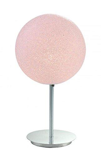 One Light Polished Chrome Table (Crush Table Lamp 1 Light)