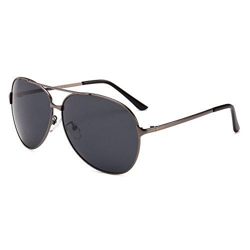 SUNGAIT Huge Oversized Aviator Sunglasses for Men Women Polarized UV400 Sun Glasses Classic Metal Frame (Gunmetal Frame/Grey Lens) 8009 ()