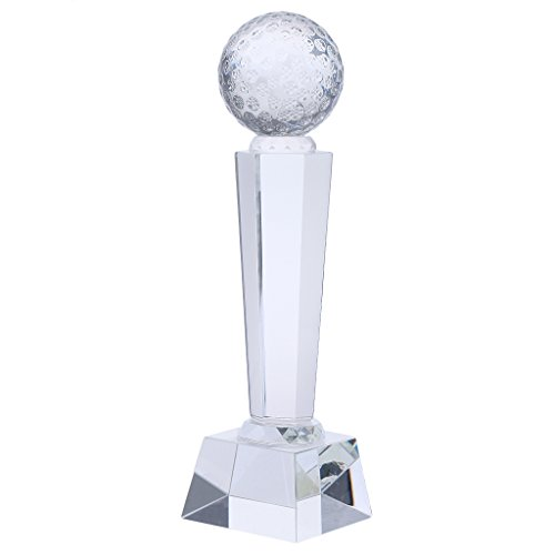 SunniMix 1x Crystal Trophy Cup Prize Creative Encourage Souvenir Home Decor Ornament - Golf, as described