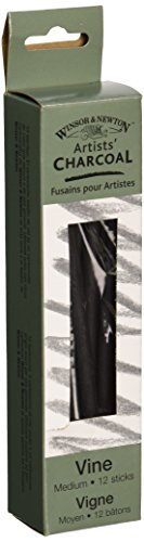 Sticks Charcoal (Winsor & Newton Artist Vine Charcoal Sticks 12/Pkg - Medium)