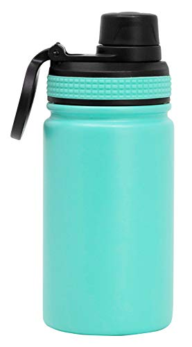 MIRA 12 oz Stainless Steel Sports Water Bottle | Metal Thermos Flask Keeps Cold for 24 Hours, Hot for 12 Hours | Wide Mouth & Double Wall Vacuum Insulated | BPA-Free Spout Lid Cap | Teal