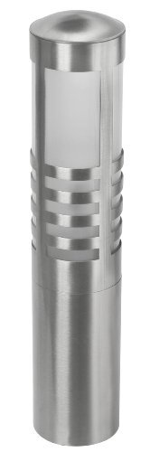 Paradise GL22915SS Low Voltage Bollard Light with Frosted Glass Lens, Outdoor Path Light with 11-watt T5 wedge Bulb, Stainless Steel