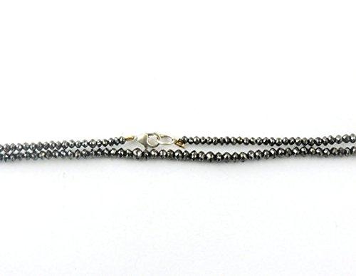 Black Diamond 3mm Faceted Rondelles Beads Natural Precious Diamond Beads 1 Strand