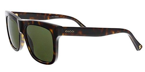GUCCI GG0158S 002 Havana Square - Gucci Frame Sunglasses Havana Square