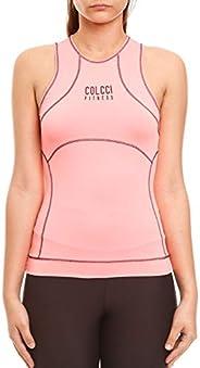 Blusa com costura contrastante, Colcci Fitness, Feminino