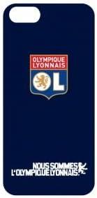 buzzebizz Coque pour iPhone 5/5S Motif Logo de Olympique Lyonnais sur Fond Bleu