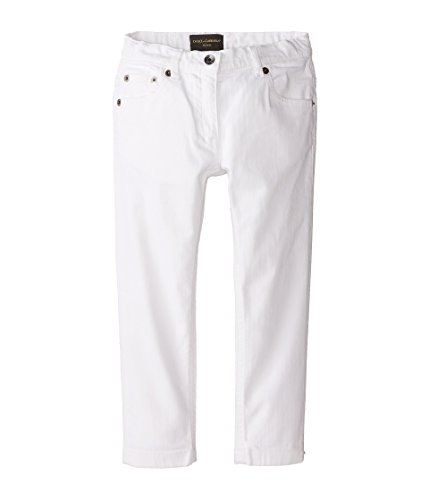 Dolce & Gabbana Kids Baby Girl's Mediterranean Five-Pocket Jeans in White/Denim (Toddler/Little Kids) White/Demin Jeans by Dolce & Gabbana