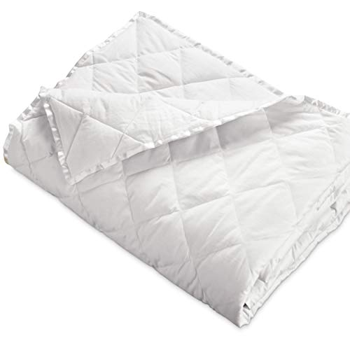 DOWNLITE Hypoallergenic 230 TC Oversized King Down Blanket With Satin Trim - Light Weight - Perfect For Summer - Available In White & Ivory 113