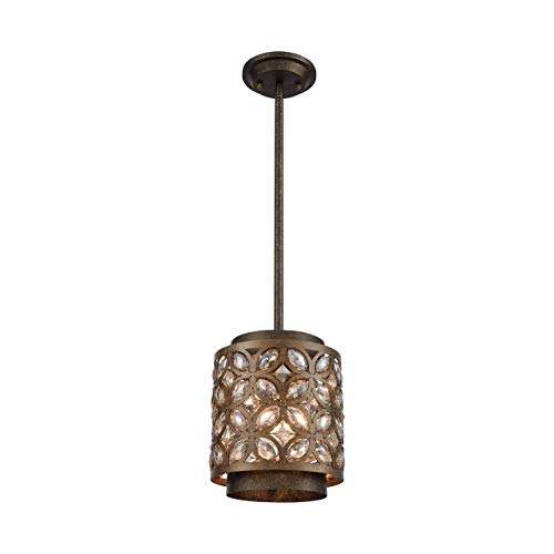 - Elk Lighting 12152/1 Pendant Light Mocha, Deep Bronze