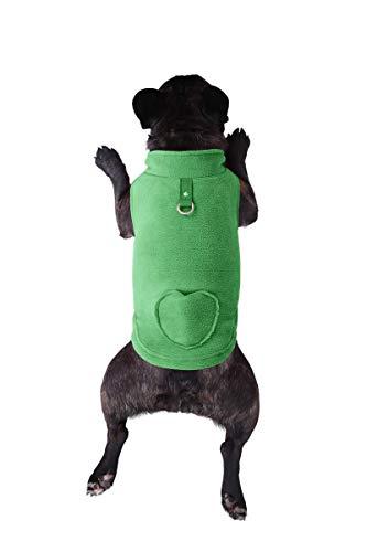 - Lil Piggy Fleece Dog Sweater, Dog Vest with Waste Bags in Pocket