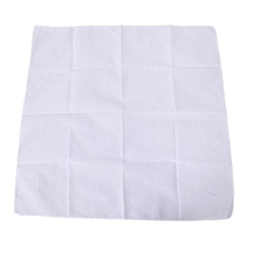 HDE 100% Cotton Solid Color Bandana Handkerchief Head Wrap - White