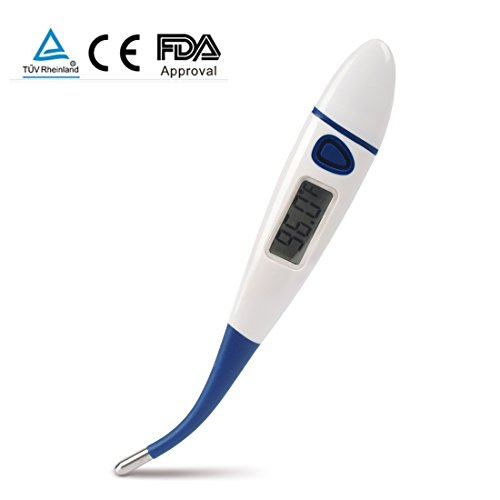 SENRU Clinical Digital Thermometer with Sensitive Flexible Probe,Switch Between °F and °C,Suit for Baby, Adult & Children