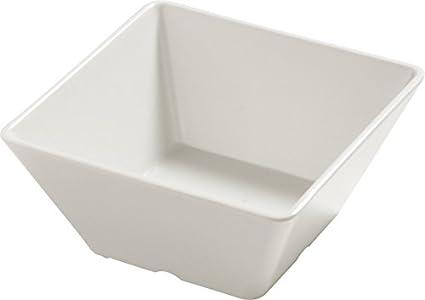 Carlisle 5554437 Balsam Melamine Angled Salad Bowl 26 fl oz Bavarian Cream