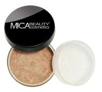 Bundle 2 Items Mica Beauty Mineral Foundation 9 Gram Itay Mineral Cosmetics Lipstick Assorted Colors MF-14 latte