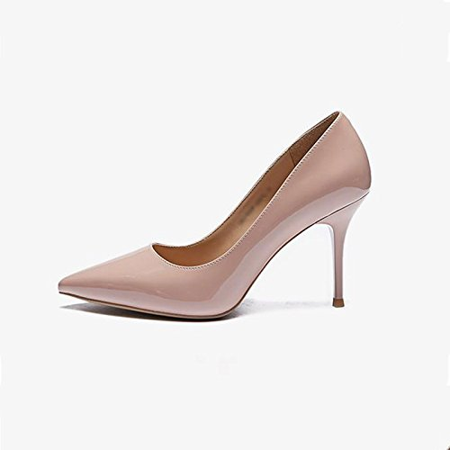 JIANXIN Damen Feine Fersen Und High Heels Und Und Und Spitzer Einzelner Schuhe Nackte Damenschuhe Frühling. (Farbe   Rosa größe   34) 0fdfcd