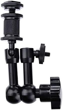 Almencla 7インチ マジックアーム DSLRカメラ LEDライト モニター 三脚マウント アルミニウム 黒