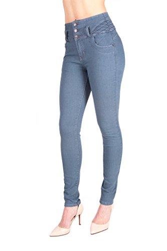 ARCO IRIS Women's Skinny High Waist Butt Lifter Denim Jeans Dark Gray Junior Size 11