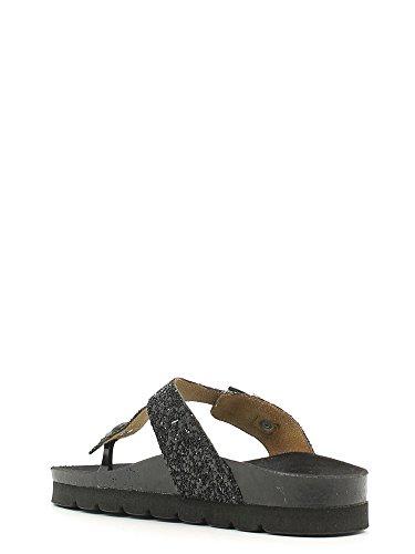 Grünland CUBIERTA CB0639 zapatillas negras señora fracasos brillo hebilla Birk Nero