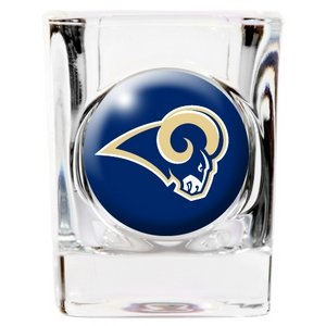 Square Shot Glass Nfl Football (St. Louis Rams Square Shot Glass)