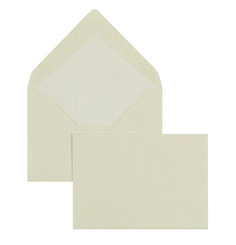 Blanke Briefhüllen, Farbige Briefumschläge, Nassklebung, Spitze Klappe, Ohne Fenster, Fenster, Fenster, 135 x 192 mm, 100 g qm Gerippt, 100 Stück, Creme (Chamois) B00FPNWMNU | Elegante Form  | Große Ausverkauf  | Smart  08d310