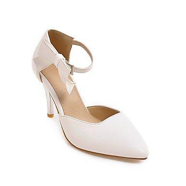 pwne La Mujer Tacones Zapatos Club Polipiel Primavera Otoño Casual Bowknot Stiletto Talón Almond Rubor Rosa Negro Blanco 3A-3 3/4 Pulg. US5 / EU35 / UK3 / CN34