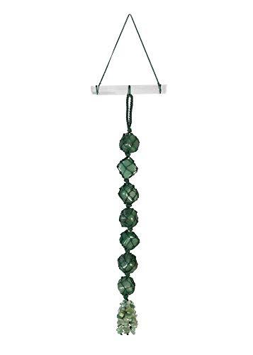 Jovivi Chakra Stones Set, Green Aventurine Healing Crystals Selenite Crystal Bar Wall Hanger Reiki Tumbled Gemstones Tassel Meditation Window Hanging Ornament Feng Shui Home Car Decor ()