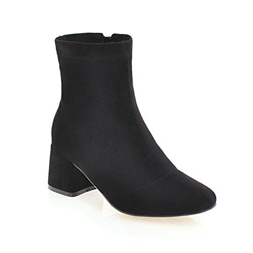 Bootie Zipper high DecoStain mid Black ankle Women's heels 44OqUA