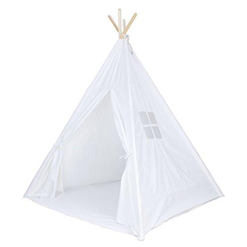 White Canvas Teepee Tent Kids