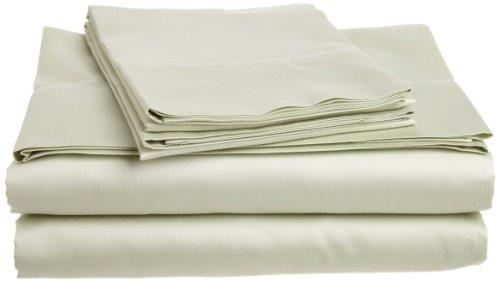 Tuscany Fine Linens (Tuscany Fine Italian Linens Milange 300 Thread Count Egyptian Cotton Sateen Cal King Sheet Set, Mint Green)