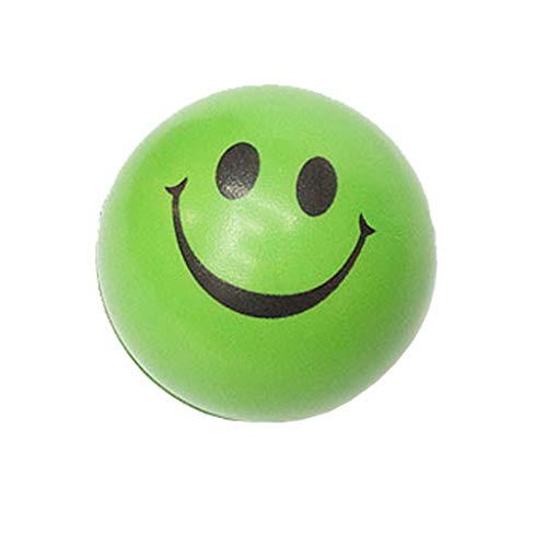 OrchidAmor New Happy Smile Face Anti Stress Relief Sponge Foam Ball Hand Wrist Squeeze Green