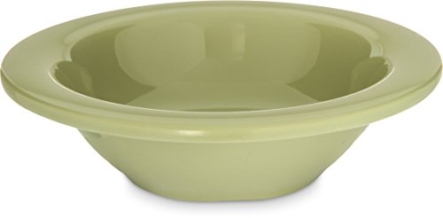 Carlisle 4304216 Durus Rimmed Melamine Fruit Bowl, 4 Oz., Firenze Green (Pack of 48) - Green Fruit Dessert Bowl