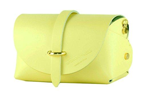 BORDERLINE - 100% Made in Italy - Echtes Leder Clutch - EVELINA P. Gelb zCSpBaUX