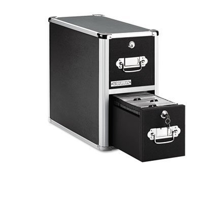 Two-Drawer CD File Cabinet, Holds 330 Folders/120 Slim/60 Std. Cases, Sold as 1 Each by Vaultz