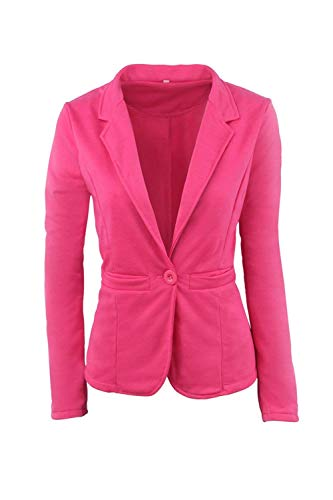Primaverile Tasche Donna Button Blazer Marca Rosered Tailleur Business Fit Slim Da Monocromo Di Cappotto Con Lunga Alla Moda Giaccone Grazioso Giacca Autunno Mode Eleganti Manica Bavero qpprAwxtnH
