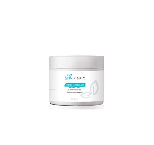 4 oz Micro DermaBrasion Cream with Glycolic Acid MicroDermaBrasion Aluminum Oxide Crystals-for Face Use -120 grits, Pure White Micro Derma Brasion Crystals-Acne Wrinkles, Dull Skin,Blackheads,Scars