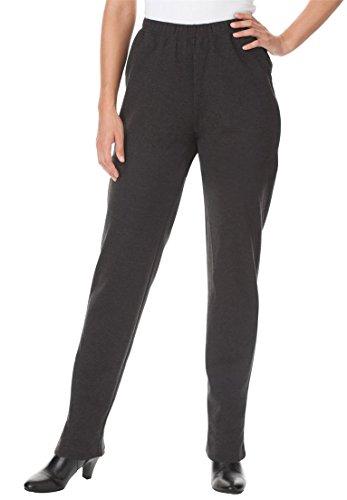 Womens Plus Size Ponte Pants