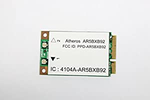 HP 482260-001 Wireless LAN 802.11a/g/n (Muscat) mini PCI adapter card - Upto 248Mbps data rate, 2.4GHz to 5GHz operating frequency range (Most-of-World)