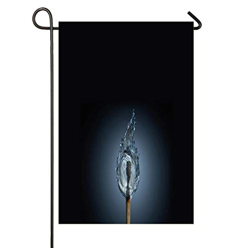 HOOSUNFlagrbfa Abstract Matchstick - Water Flame Garden Flag Garden Flag Decorative House Yard Double Sided Flag