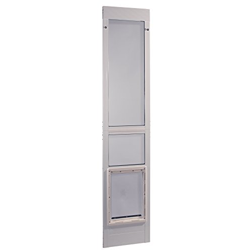 Ideal Pet Products Aluminum Modular Patio Pet Door, White, Extra Large, 10.5' x 15' Flap Size