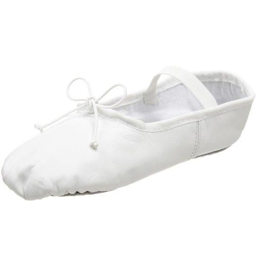 Dance Class B501 Leather One Piece Ballet ,White,2 M US Litt