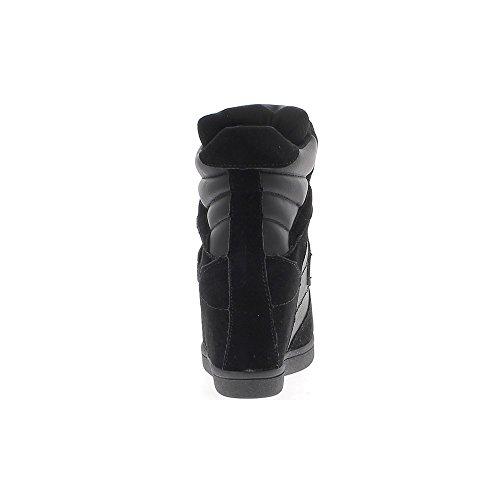 Zeppa A Nero Sneakers 5 Bi 7 Con Tacco Materiale Chaussmoi Cm Aumentante wxF4X0n4q