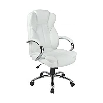 Amazon Com Furmax Ribbed Office Chair Mid Back Leather