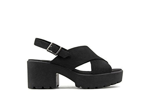MODELISA Women's Fashion Sandals Black Cd6JBuQ